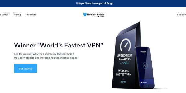 HotSpot Shield Best VPNs 600x300