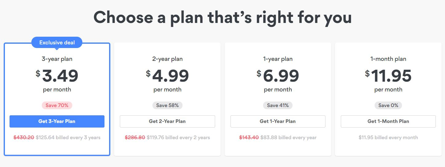 NordVPN subscription plans