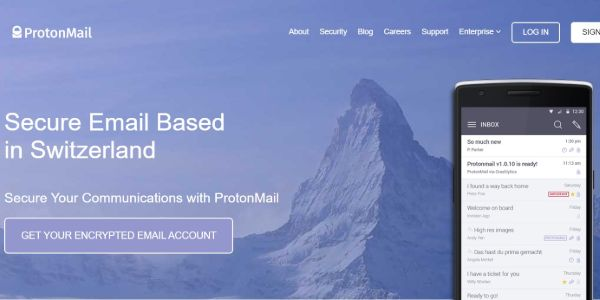 ProtonMail private email service provider