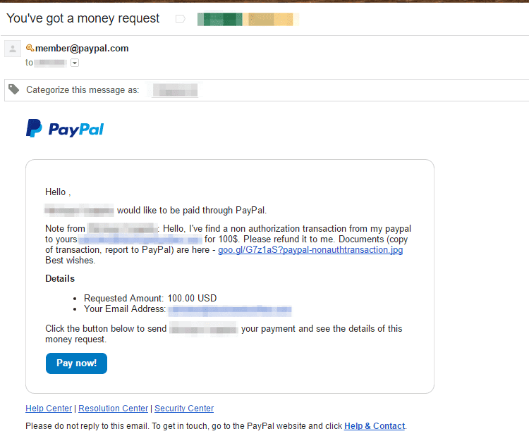 Zero-day operating kits paypal scam