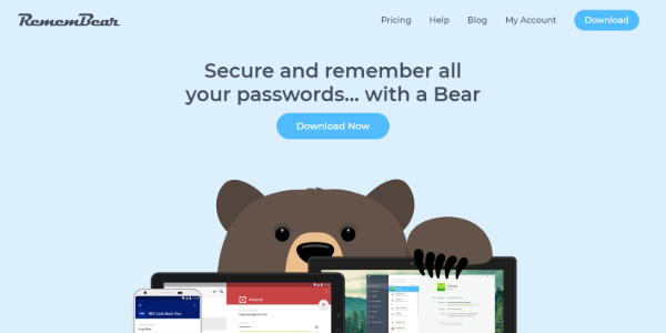 RememBear password manager by TunnelBear