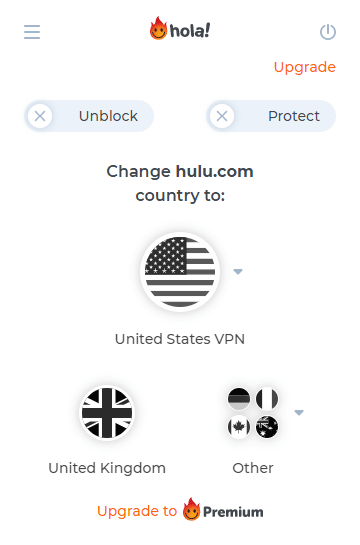 Hola VPN proxy for watching Hulu outside US