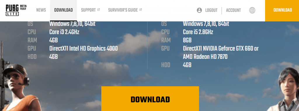 Download PUBG Lite game file