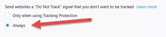 Do Not Track me feature in Mozilla Firefox