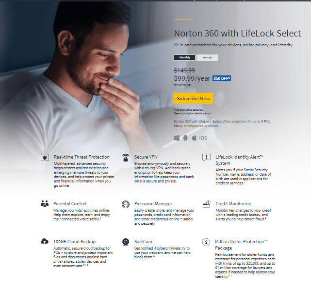 Norton Lifelock Select Cost