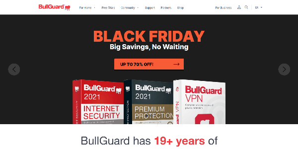 BullGuard 2021 Antivirus and VPN for your home and business-min