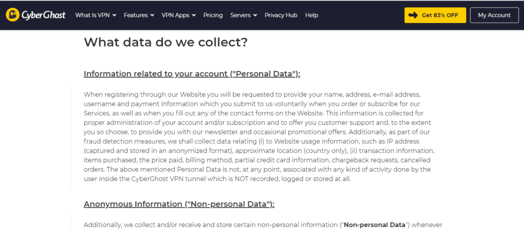 CyberGhost Privacy Policy