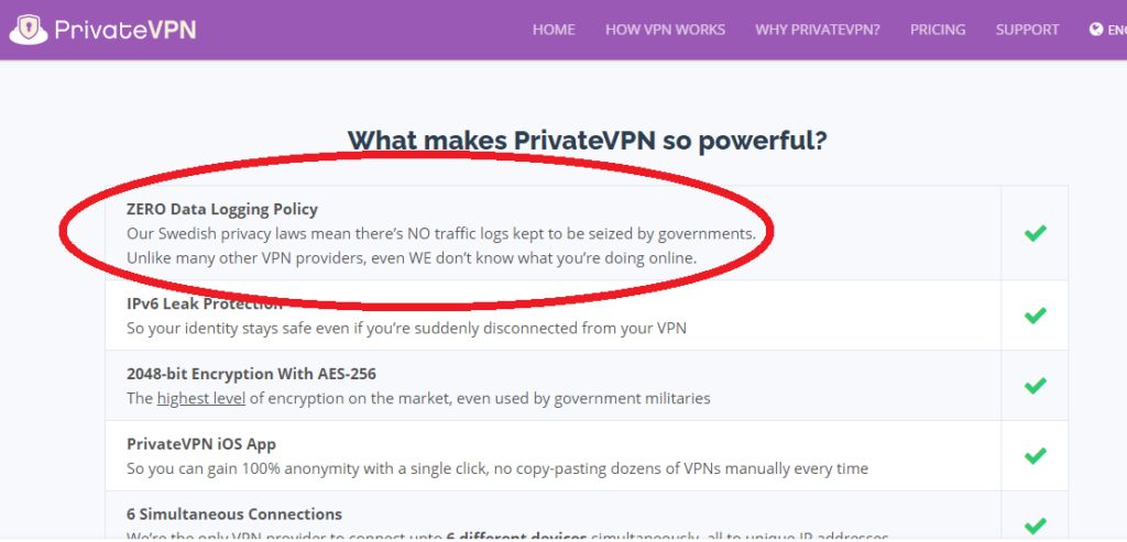 PrivateVPN great performance with modest features screenshort 1