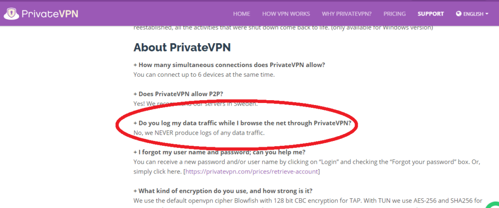 PrivateVPN great performance with modest features screenshort 2